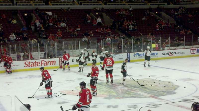 Seating view for United Center Section 101 Row 5 Seat 21