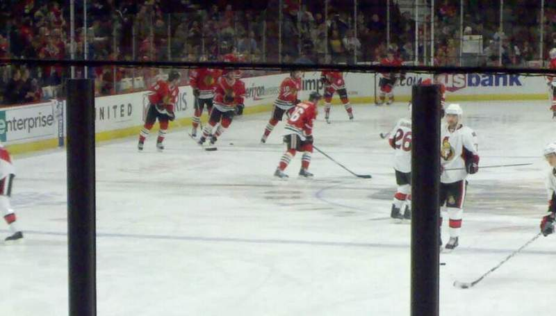 Seating view for United Center Section 117 Row 10 Seat 1