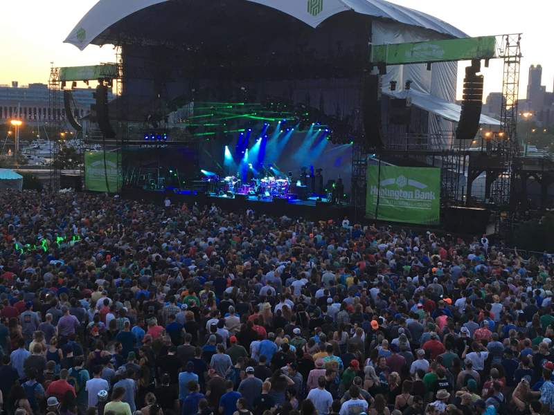 Huntington Bank Pavilion at Northerly Island, section: W - VIP, row: 1, seat: 1