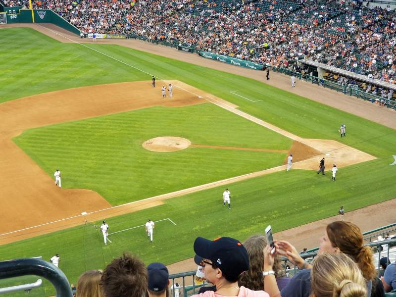 Seating view for Comerica Park Section 336 Row 8 Seat 19