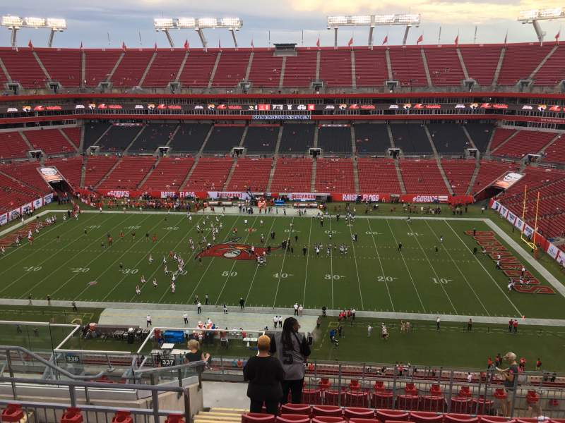 Seating view for Raymond James Stadium Section 337 Row J Seat 8