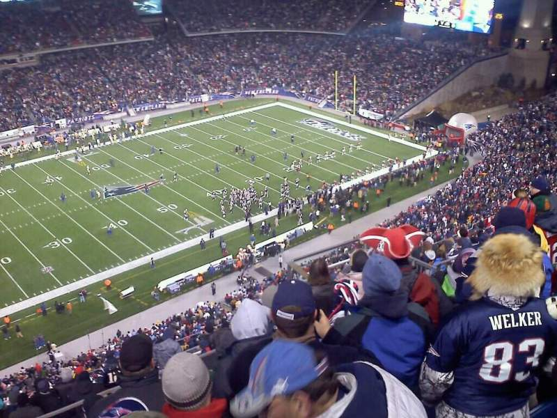 Seating view for Gillette Stadium Section 313 Row 14