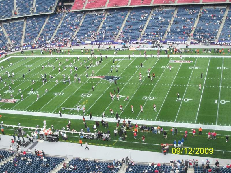 Seating view for Gillette Stadium Section 326 Row 2
