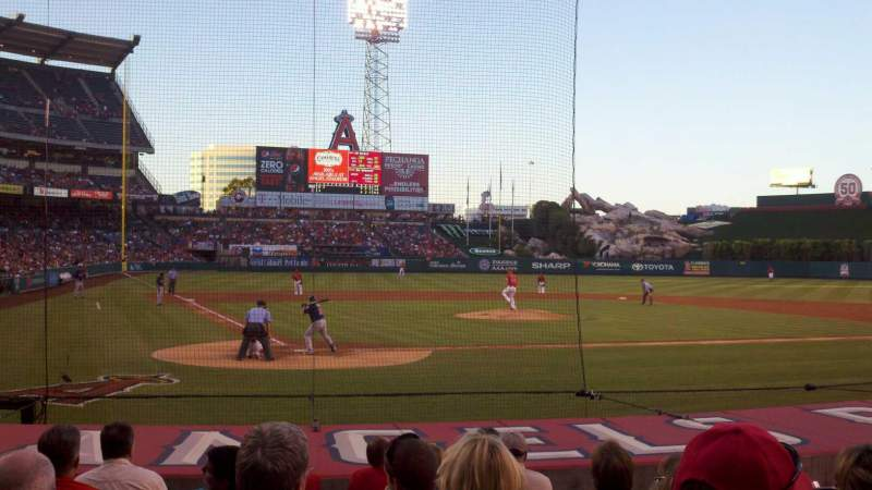 Seating view for Angel Stadium Section F121 Row K Seat 1