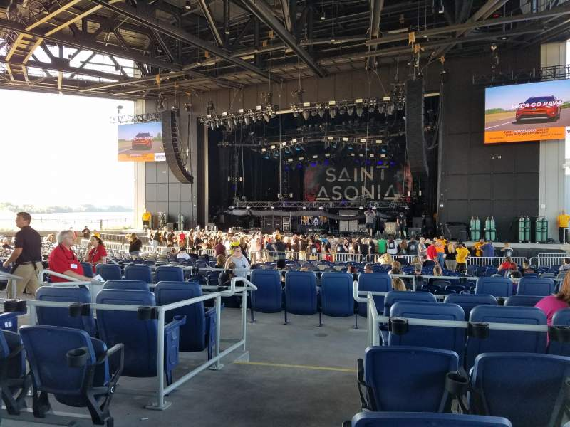 Seating view for Lakeview Amphitheater (Syracuse) Section 204 Row F Seat 16