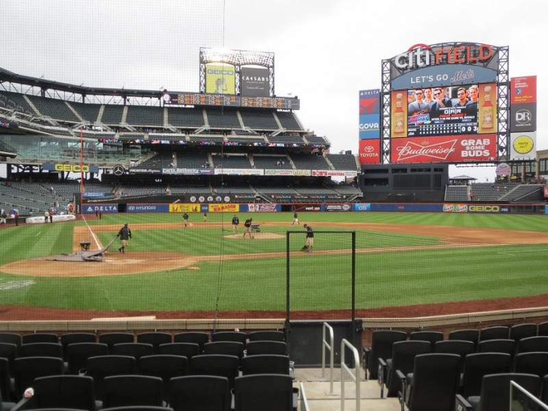 Seating view for Citi Field Section 13 Row 9 Seat 5