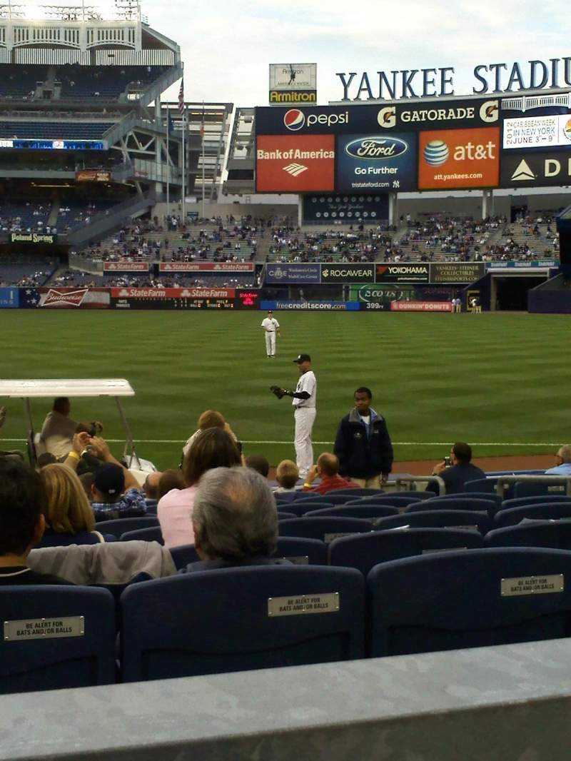 Seating view for Yankee Stadium Section 113 Row 12 Seat 10