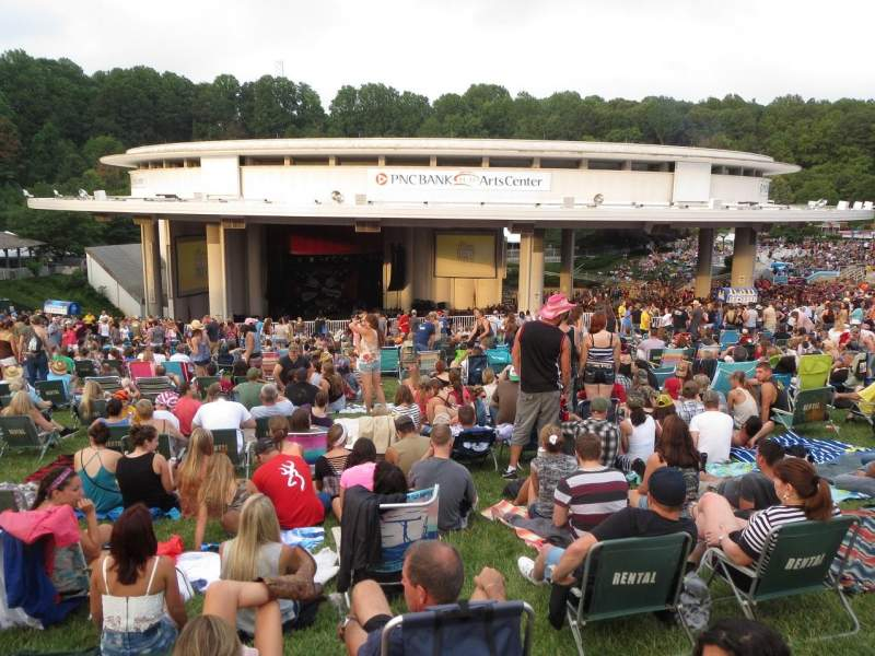 Seating view for PNC Bank Arts Center Section Lawn