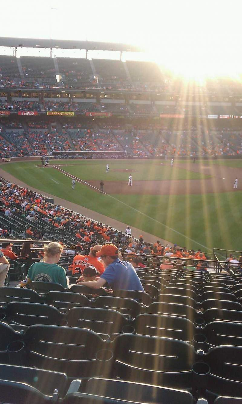 Seating view for Oriole Park at Camden Yards Section 5 Row 14 Seat 9
