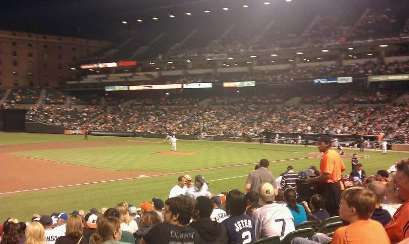 Seating view for Oriole Park at Camden Yards Section 58