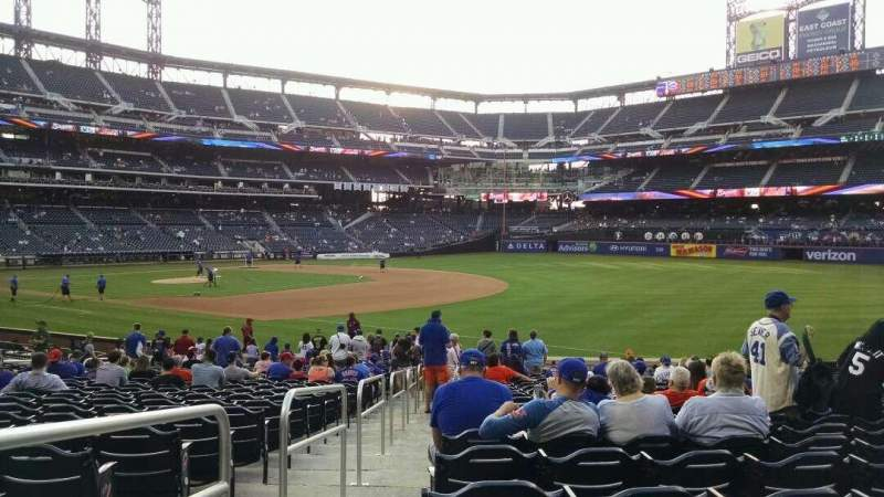 Seating view for Citi Field Section 109 Row 20 Seat 1