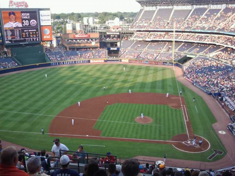 Seating view for Turner Field Section 410 Row 12 Seat 7