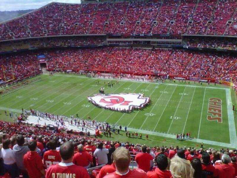 Seating view for Arrowhead Stadium Section 343 Row 31 Seat 21