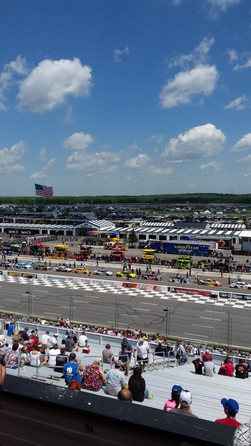 Seating view for Pocono Raceway