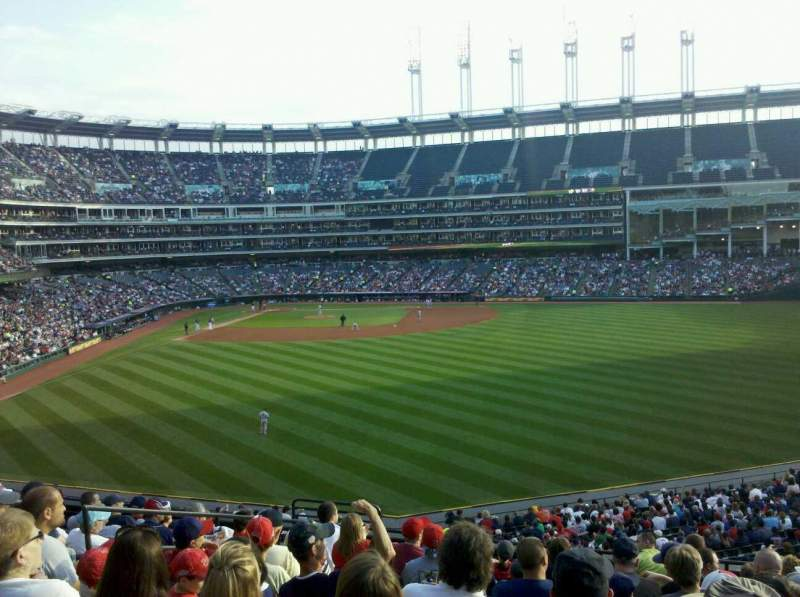 Seating view for Progressive Field Section 304 Row L  Seat 18
