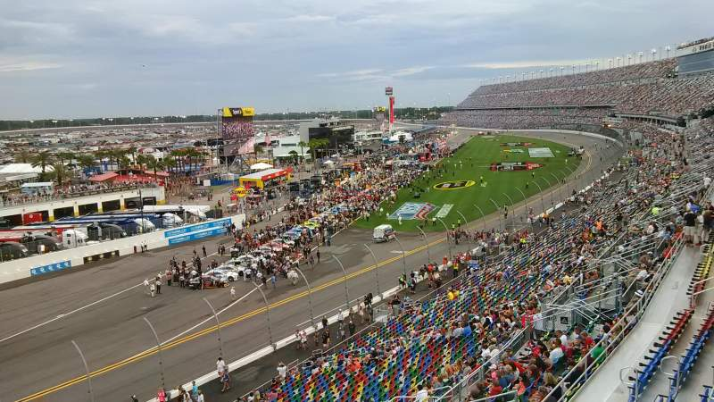 Seating view for Daytona International Speedway Section 423 Row 24 Seat 4a