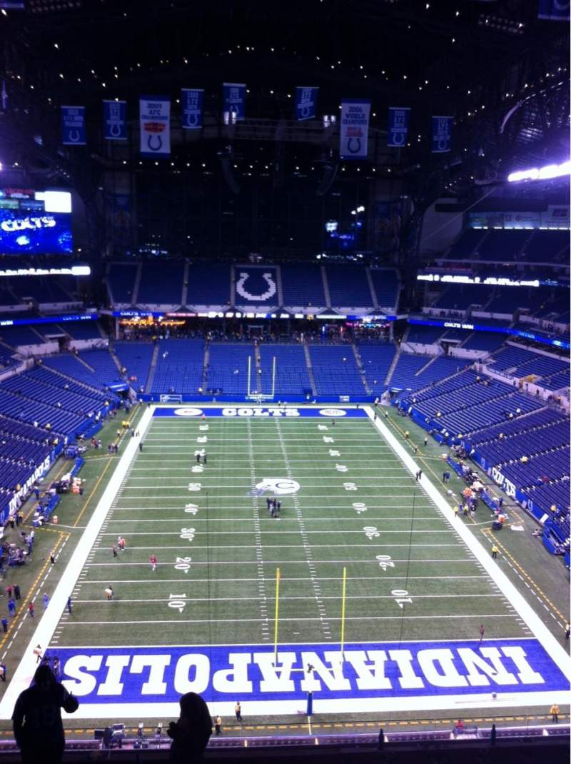 Seating view for Lucas Oil Stadium Section 627 Row 9