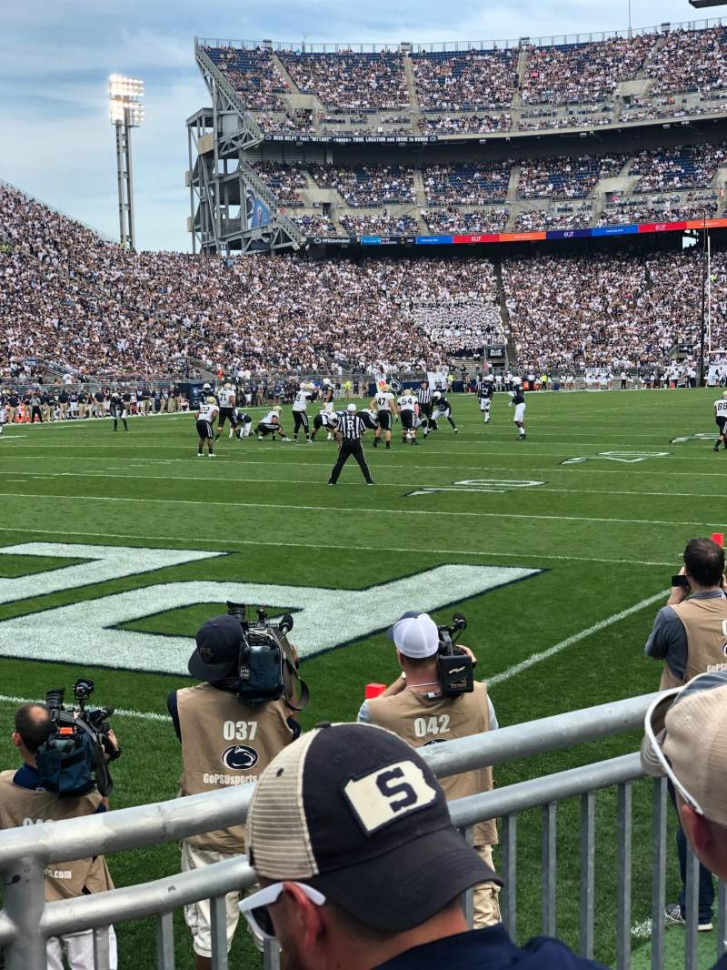 Seating view for Beaver Stadium Section NB Row 3 Seat 11