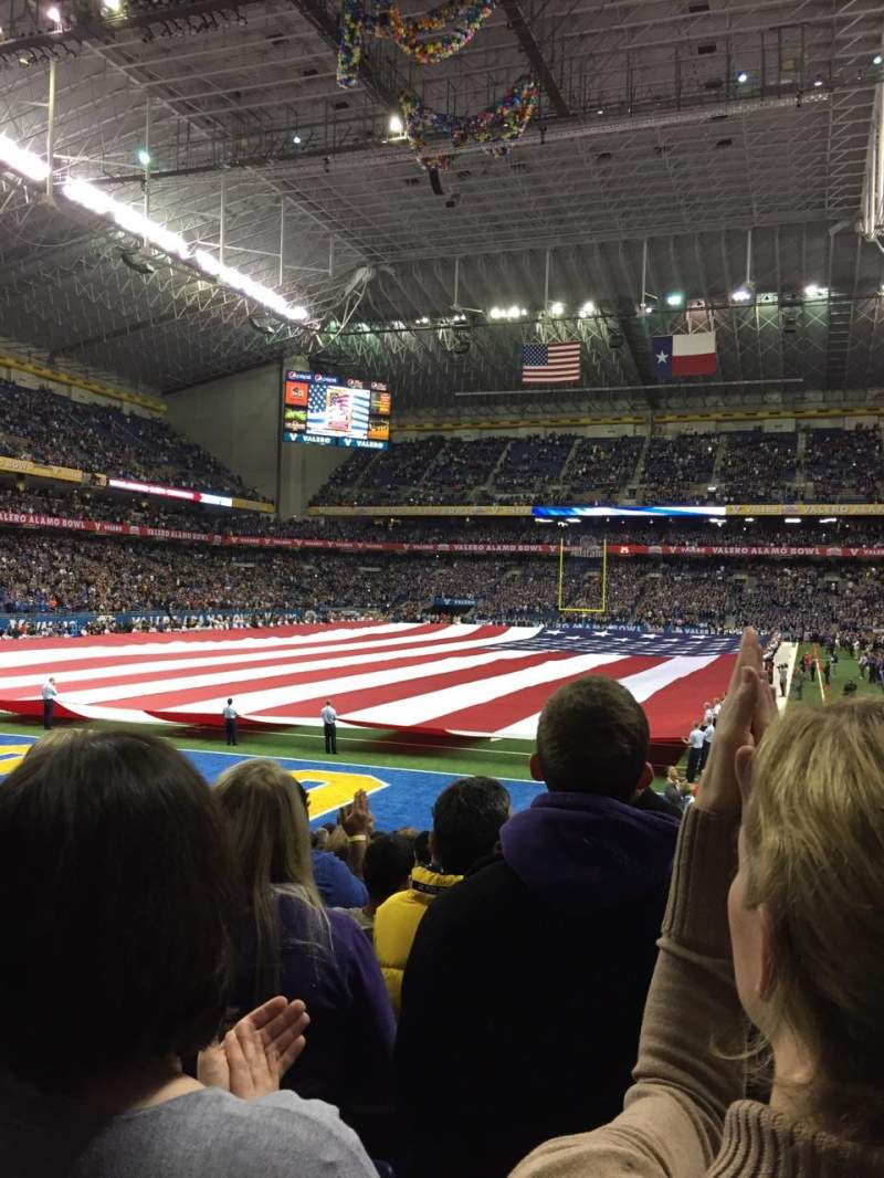 Seating view for Alamodome Section 143 Row 11 Seat 7