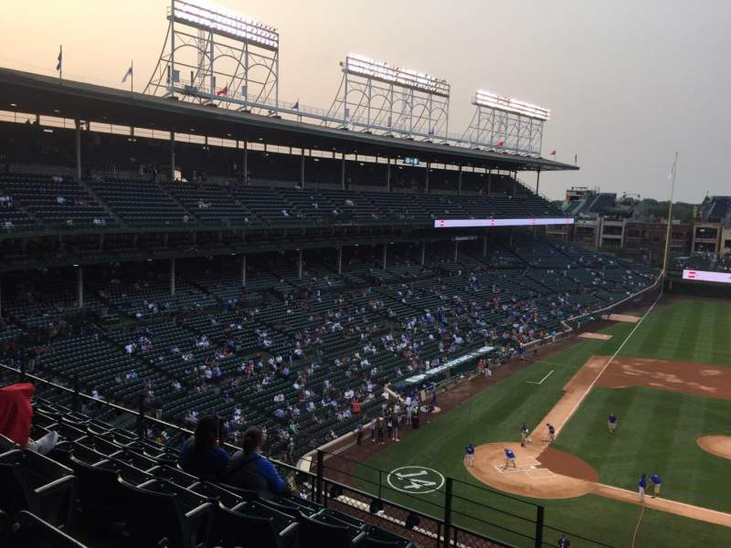 Seating view for Wrigley Field Section 324R Row 7 Seat 4