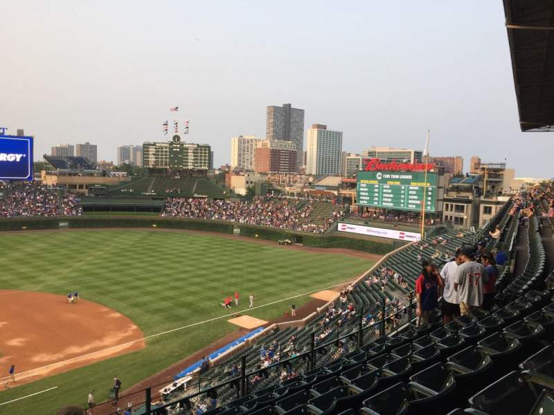 Seating view for Wrigley Field Section 427 Row 7 Seat 4