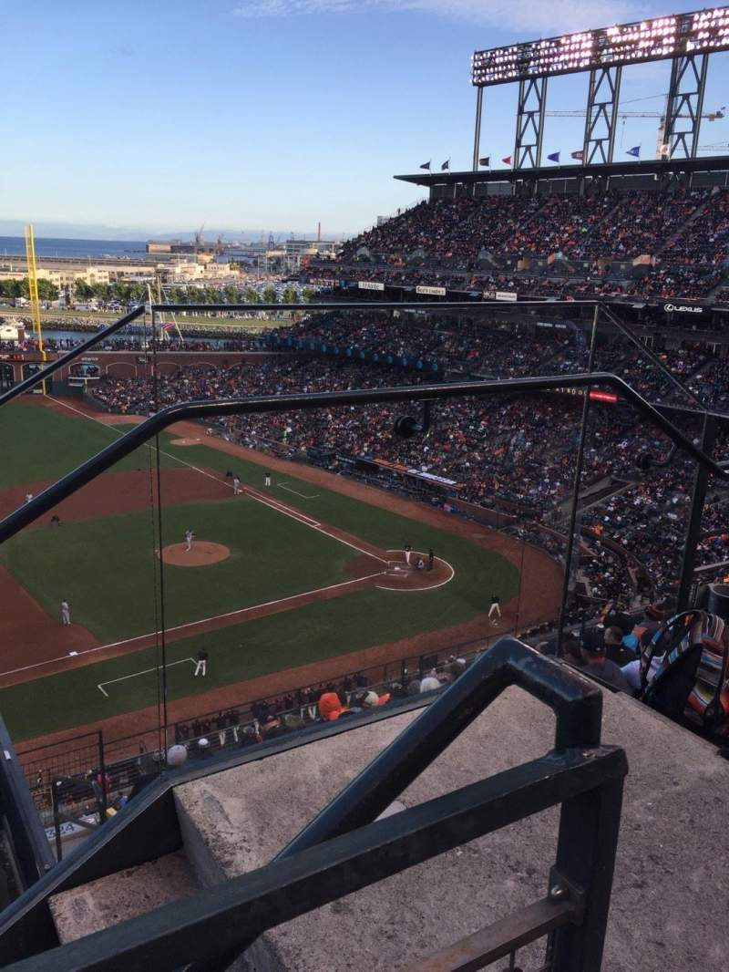 Seating view for Oracle Park Section VR325 Row 1 Seat  2