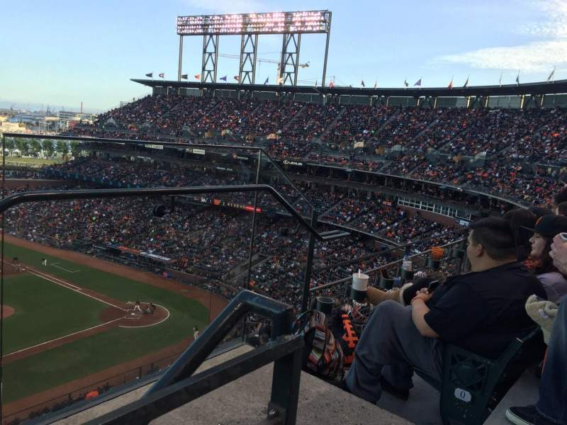 Seating view for AT&T Park Section 325 Row 1 Seat 2