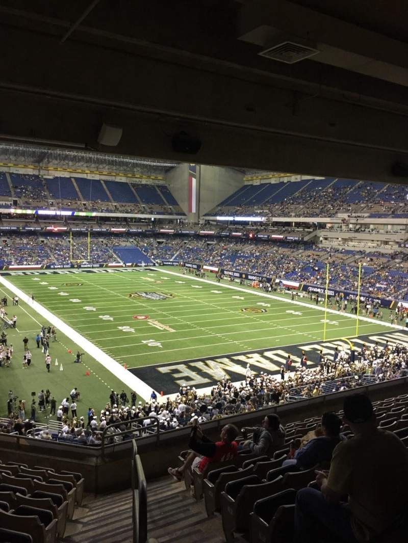 Seating view for Alamodome Section Endzone