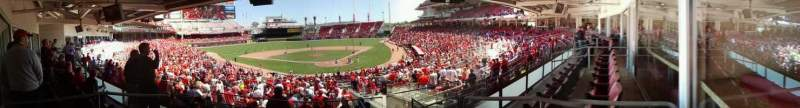 Seating view for Great American Ball Park Section Suites