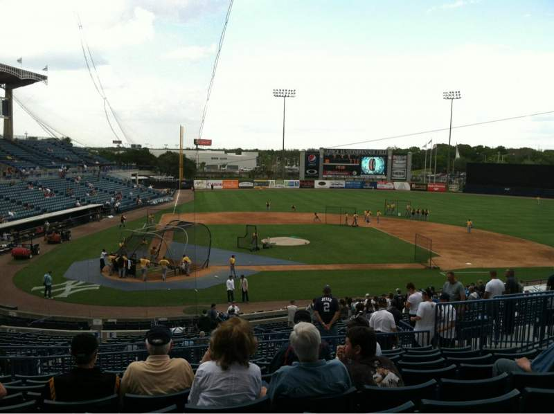 Seating view for George M. Steinbrenner Field Section 208 Row J Seat 11