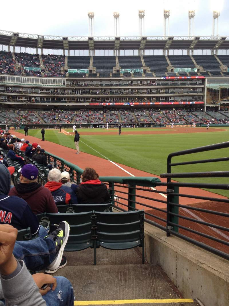 Seating view for Progressive Field Section 117 Row L Seat 1