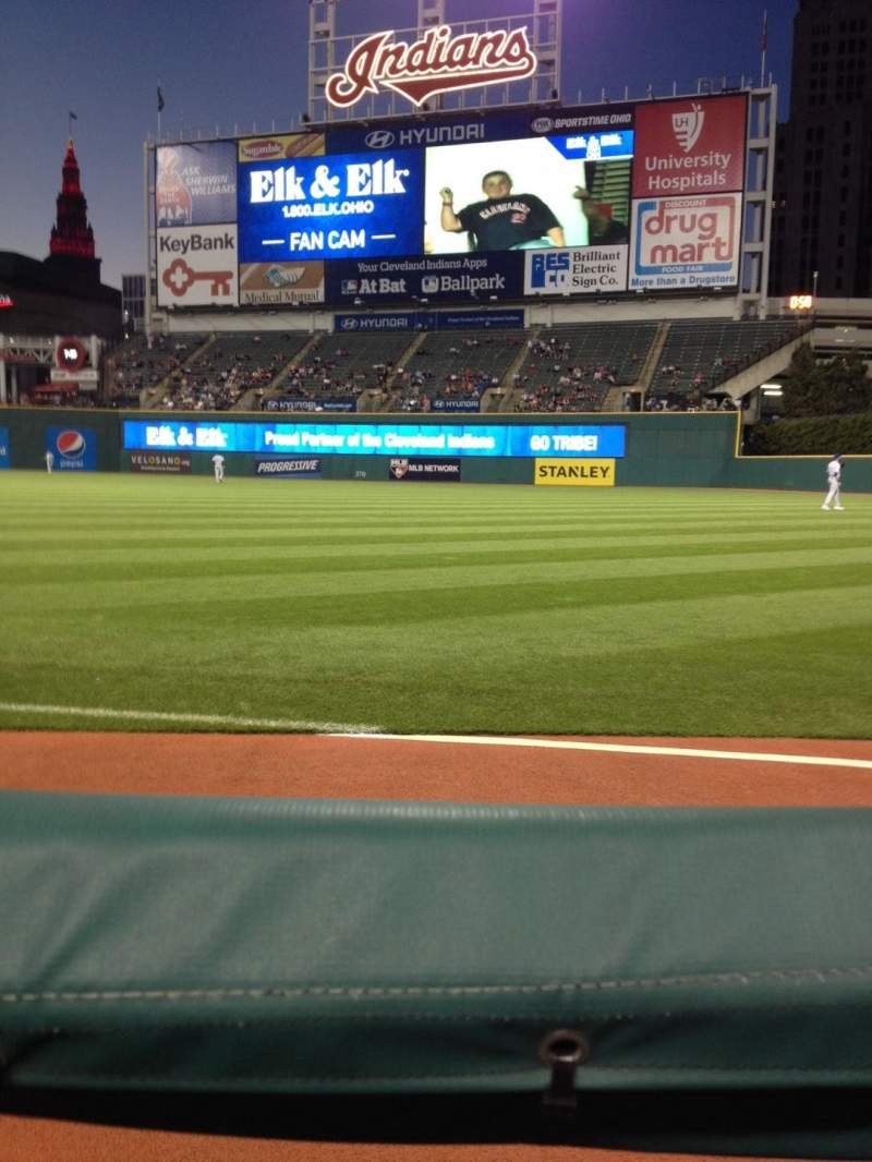 Seating view for Progressive Field Section 129 Row 129 Seat 4