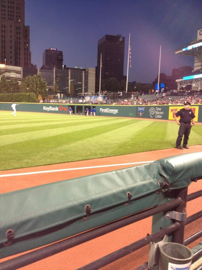 Seating view for Progressive Field Section 129 Row A Seat 3