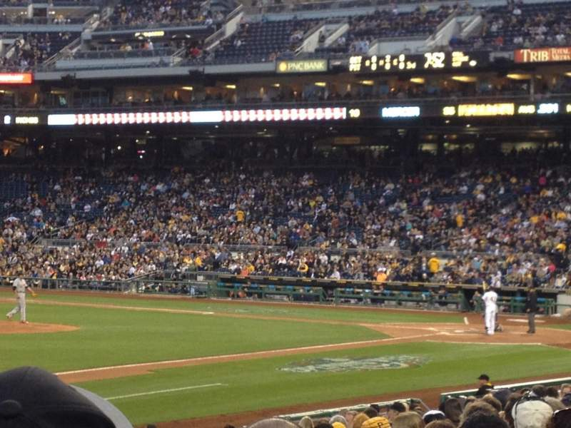 Seating view for PNC Park Section 127 Row L Seat 3