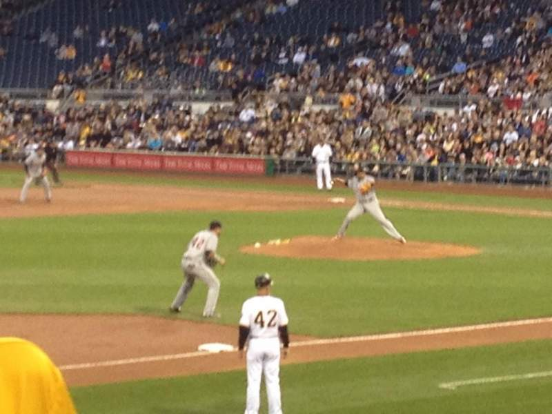 Seating view for PNC Park Section 127 Row J Seat 4