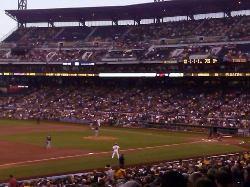 Seating view for PNC Park Section 127 Row W Seat 5