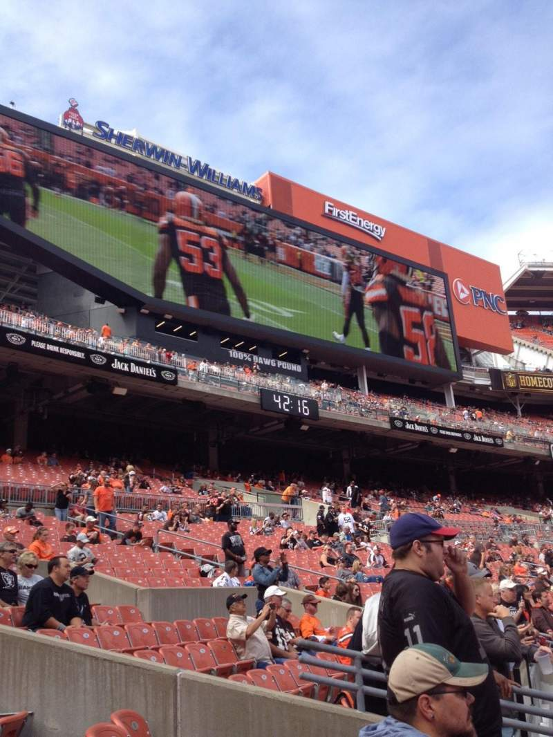 Seating view for FirstEnergy Stadium Section 102 Row 6 Seat 9