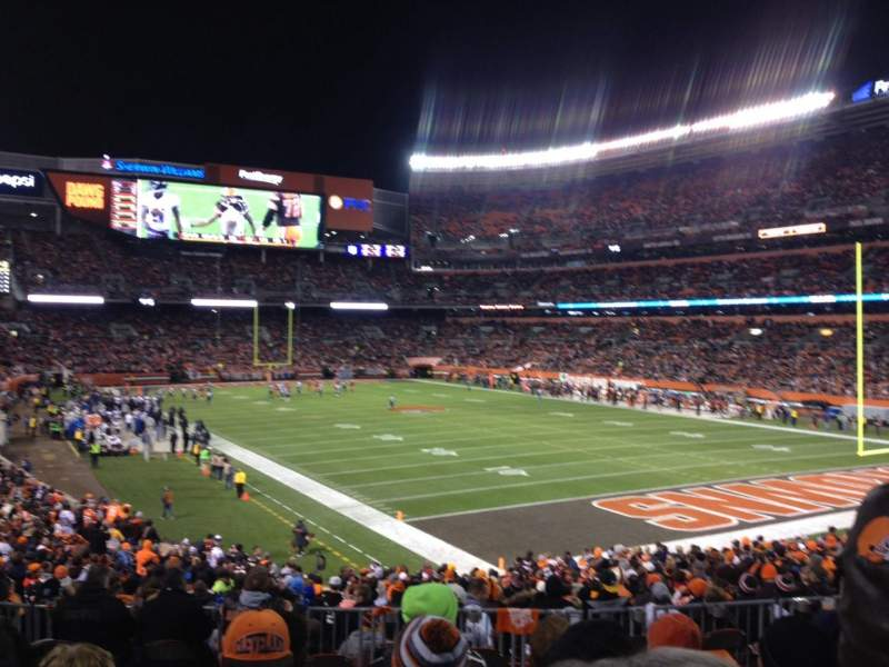 Seating view for FirstEnergy Stadium Section 117 Row 27 Seat 8