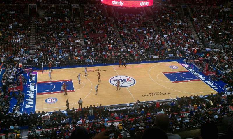 Seating view for Wells Fargo Center Section 224 Row 4 Seat 3