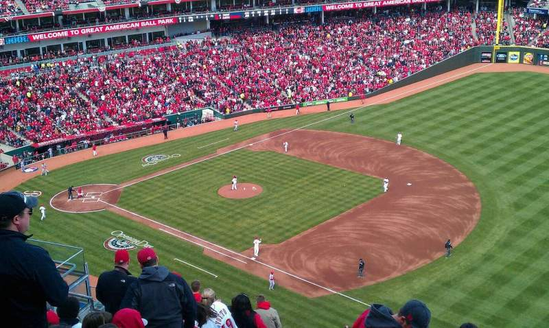 Seating view for Great American Ball Park Section 534 Row L Seat 6