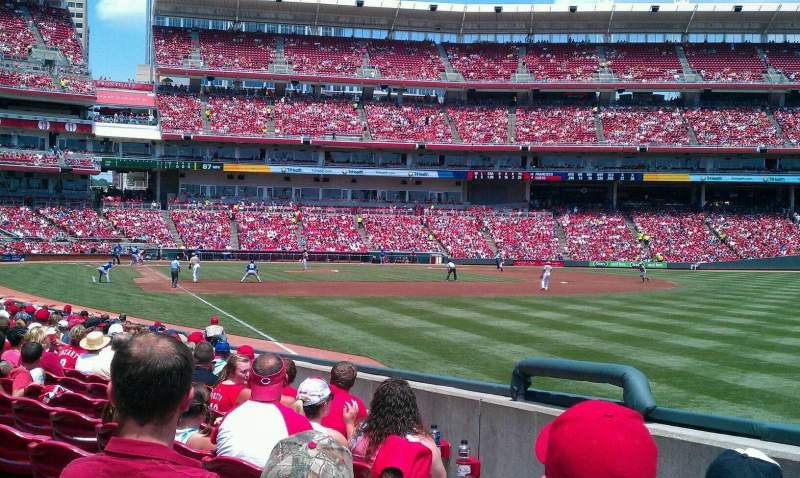 Seating view for Great American Ball Park Section 137 Row P Seat 6