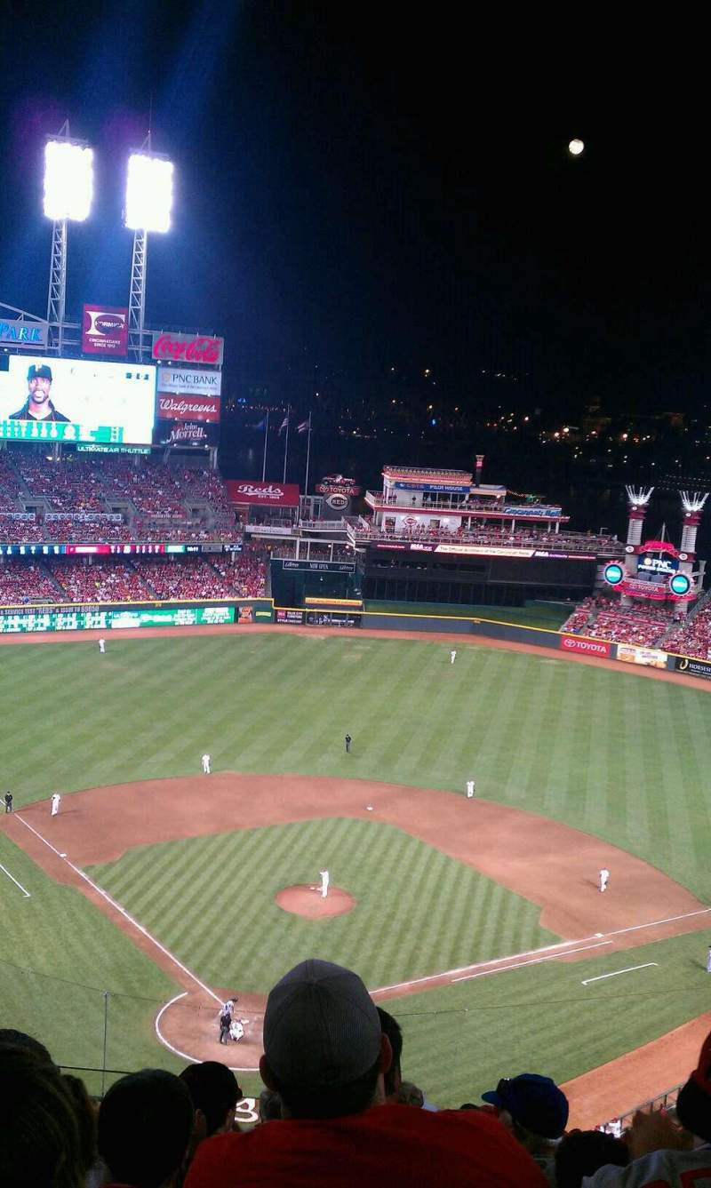 Seating view for Great American Ball Park Section 525 Row Q Seat 17