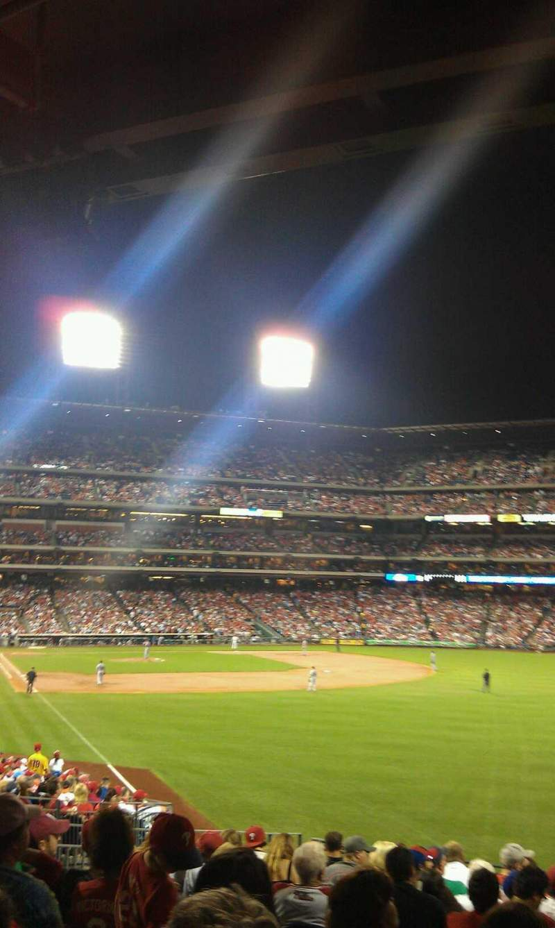 Seating view for Citizens Bank Park Section 107 Row 16 Seat 15
