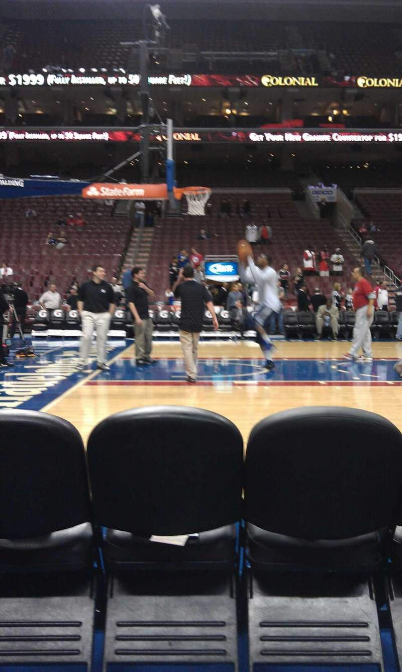 Seating view for Wells Fargo Center Section 112 Row bb  Seat 5