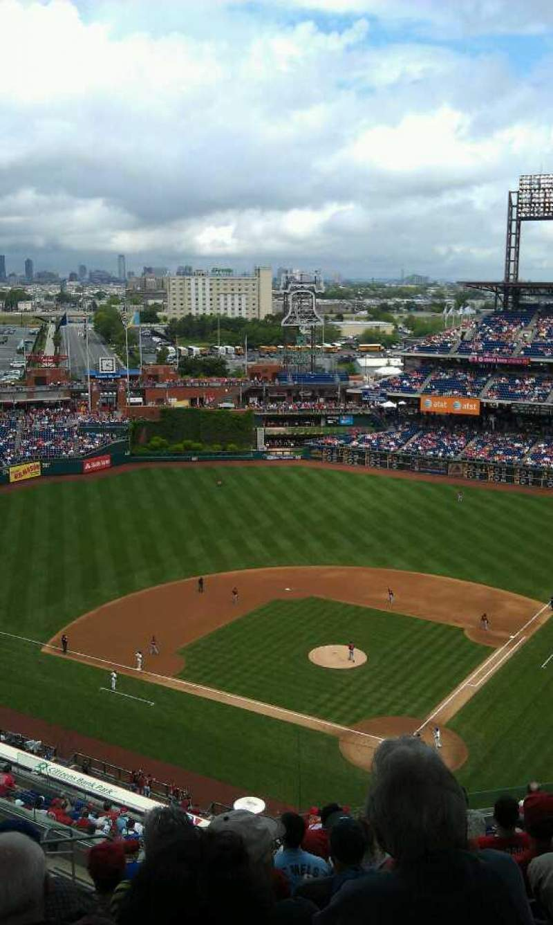 Seating view for Citizens Bank Park Section 422 Row 15 Seat 24