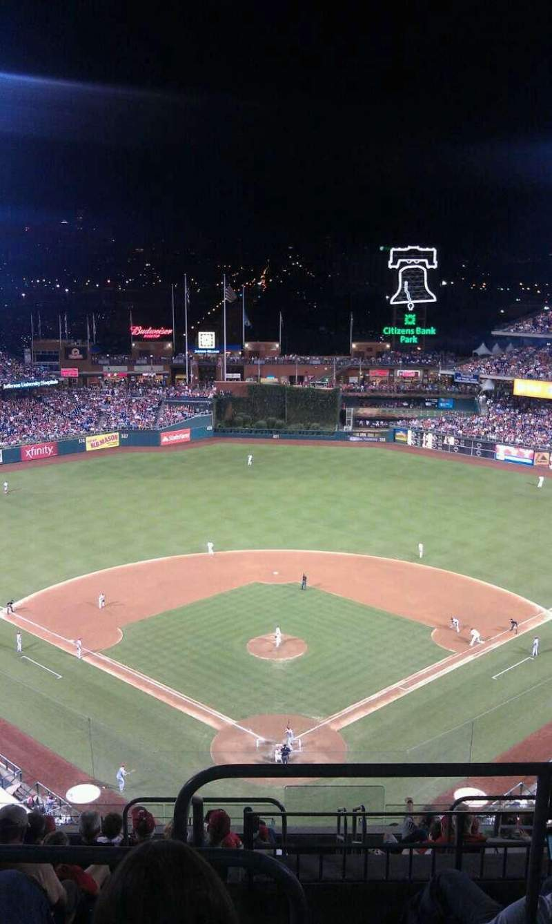 Citizens Bank Park, section: 421, row: 13, seat: 1
