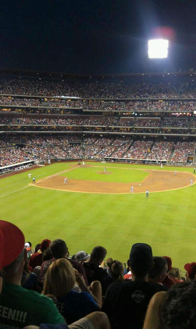 Seating view for Citizens Bank Park Section 202 Row 12 Seat 7