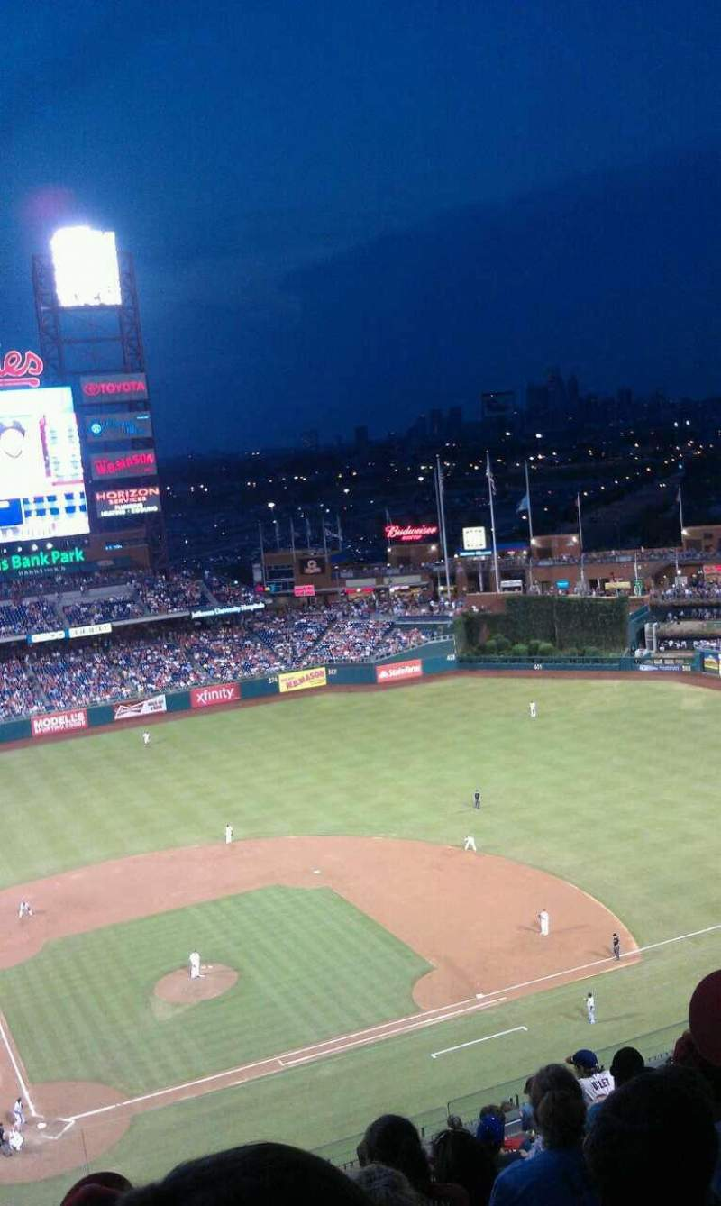 Seating view for Citizens Bank Park Section 417 Row 12 Seat 21