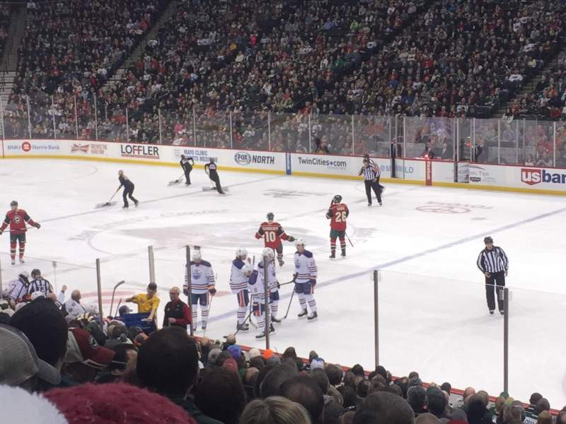 Seating view for Xcel Energy Center Section 114 Row 19 Seat 6-8
