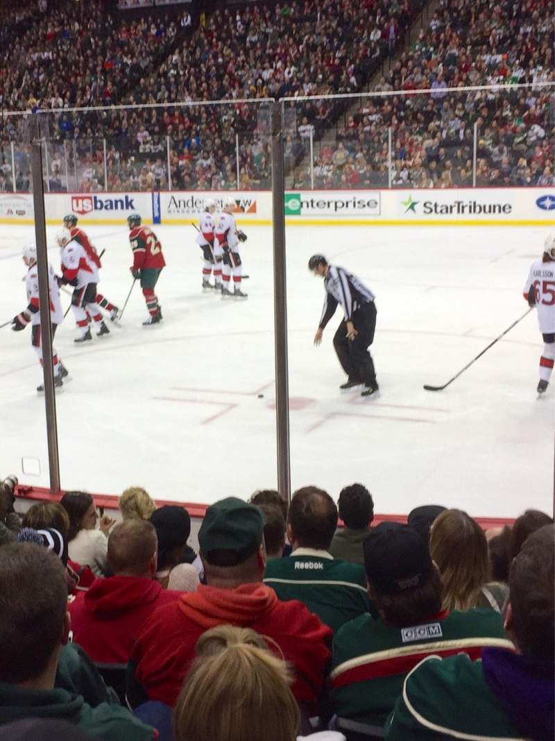 Seating view for Xcel Energy Center Section 114 Row 8 Seat 4